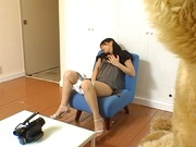 Nana Nanami plays with toys on her sweet pussy