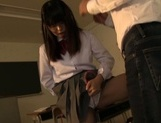 Delicious Japanese teen chick Kaho Mizuzaki stretches pussy for banging picture 15