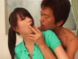 Young big titted Japanese AV Model gets banged by older guy