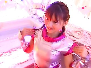 Japanese AV Model hot teen gets banged in cosplay sex