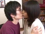 Teen brunette sweetie Nana Nanaumi fucks her shy boyfreind