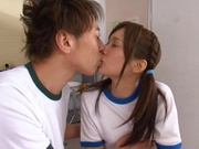 Sweet teen girl with nice bubble ass Minami Kojima gets rear bang