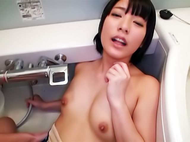Abeno Miku gets oiled and her tight asshole fucked