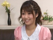 Glorious teen girl with nice tight body Nanami Kawakami bounces on dick