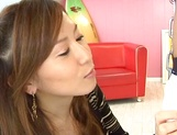 Hikari Kirishima fucked after sucking cock like an Asian goddess picture 14