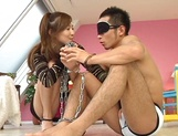 Hikari Kirishima fucked after sucking cock like an Asian goddess picture 6