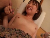 Teen jizzed on her tits after nasty toy porn