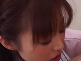 Horny Japanese AV Model gets fucked hard on a hospital bed