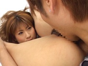 Sweet Mio Ayase enjoys a really good oral show