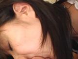 Amateur Asian brunette Nana Nanaumi enjoys cock in POV show
