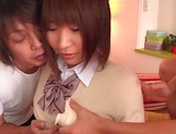 Koko Yumemi hard fucked by two hunks in dirty trio
