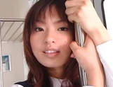 Japanese schoolgirl with big boobs fucked in public