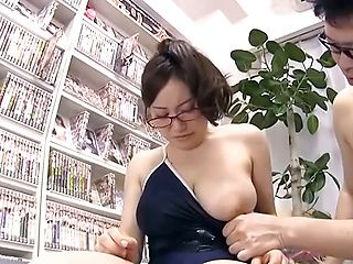 Raunchy beauty excels in getting titty fucked
