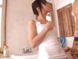 Sensual Japanese teen, Ami Hyakutake fucked in a really harsh ways