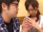 Teen angel with small tits Minami Kojima fucks a virgin guy