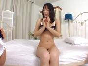Nana Nanami crazy hardcore sex with two males