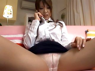 Naughty Asian amateur, Yui Hatano in hot solo masturbation