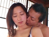 Horny young Japanese AV Model gets banged hard by an older guy