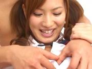 Sweet Tokyo schoolgirl gets her juicy young body teased by her boyfriend