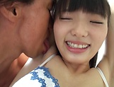 Mature babe Kazusa Yatabe with shaved pussy fingering picture 13