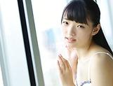 Mature babe Kazusa Yatabe with shaved pussy fingering