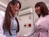 Sexy lesbian play between two horny Asian milfs, Riona Minami, and Kotomi Asakura