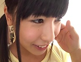 Asian teen Risa Kataoka makes out with her lover in the bedroom