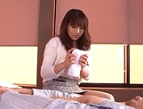Kanade Otoha gives head before a wild shag picture 12