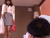 Kanade Otoha gives head before a wild shag picture 6