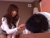 Kanade Otoha gives head before a wild shag picture 7