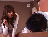 Kanade Otoha gives head before a wild shag picture 8