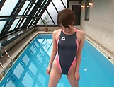 Tight Asian hottie Makoto Yuuki fucked by her swimming trainer picture 11