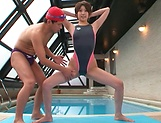 Tight Asian hottie Makoto Yuuki fucked by her swimming trainer picture 15