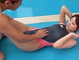 Tight Asian hottie Makoto Yuuki fucked by her swimming trainer