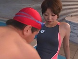 Tight Asian hottie Makoto Yuuki fucked by her swimming trainer