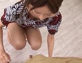 Hot Asian babe Eri Ito, sucks and jerks off a small dick