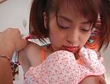 Hot teen Hikaru Houzuki, with pigtails rides a big hard dick picture 14