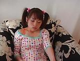 Hot teen Hikaru Houzuki, with pigtails rides a big hard dick