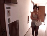 Kinky Japanese milf Yuri Shibasaki in sexy pantyhose blows cock picture 1