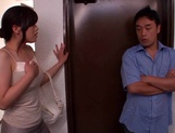 Kinky Japanese milf Yuri Shibasaki in sexy pantyhose blows cock picture 2