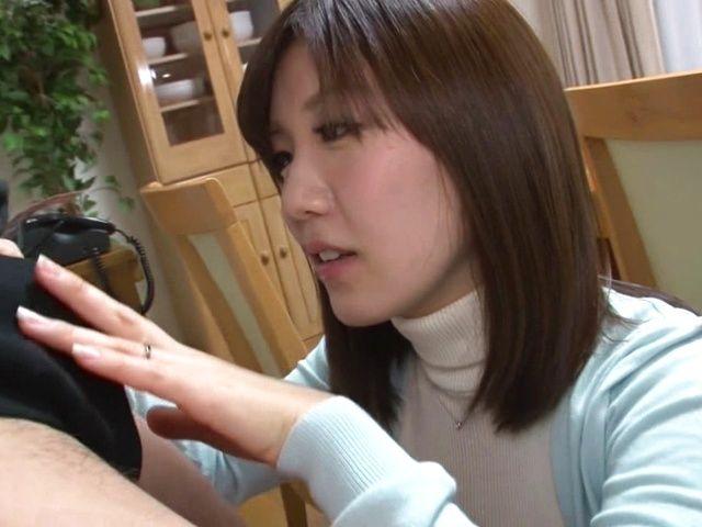 Hot and sexy Saki Mizumi gets her boobs fucked