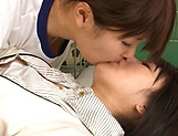 Attractive Asian cuties get naughty in the gym picture 12
