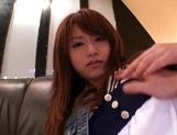 Horny Asian milf Akiho Yoshizawa gets dildoed on a couch