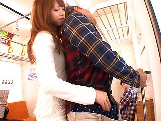 Akiho Yoshizawa ramming good in the train