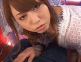 Cum-thirsty cutie Akiho Yoshizawa gives nice blow on Asian pov