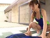 Amazing blowjob by steamy Akiho Yoshiawa picture 13