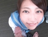 Excellent blowjob in POV with young Mayu Shiina