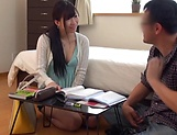 Sexy Japanese milf riding her dude amazingly picture 11