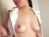 Awesome Asian brunette giving a sweet handjob picture 15