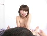 Hot mature Mei Ashikawa gives a sizzling blowjob and handjob